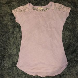 5/$20 Paper + Tee size small lace t shirt